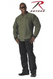 Летная винтажная оливковая курточка 8653
