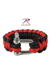 Красно-черный браслет паракорд 911