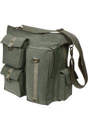 Винтажная оливковая сумка 9124