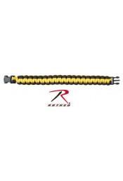 Черно-желтый браслет из паракорда 922