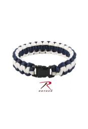 Бело-синий браслет из паракорда 937