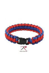 Сине-красный браслет из паракорда 938