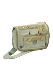 Оливковая винтажная сумка 9386