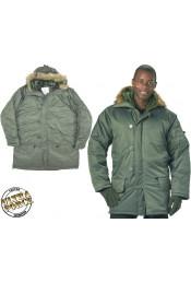Серо-зеленая курточка N-3B 9387