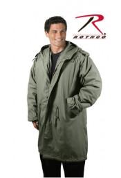 Длинная оливковая курточка 9462