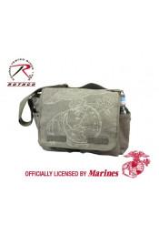 Оливковая сумка с приглушенной эмблемой 9849