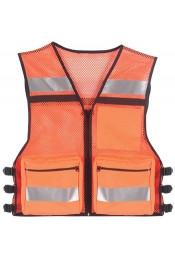 Оранжевый сетчатый жилет безопасности 9520