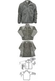 Зеленая флисовая куртка 9730