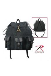 Винтажный рюкзак с кожаными вставками 9793