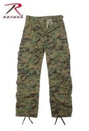 Винтажные брюки лесной цифровой камуфляж 2366