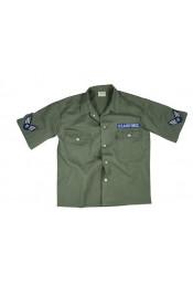 Винтажная оливковая рубашка 2875