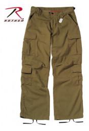 Винтажные брюки красно-коричневые 2886