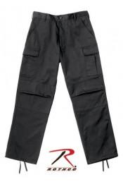 Свободные черные брюки 2971