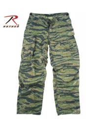 Винтажные брюки VIETNAM тигровый камуфляж 4487