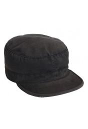 Винтажная черная кепка 4503