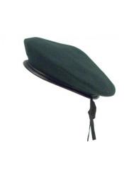Зеленый шерстяной берет 45993