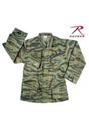 Винтажная рубашка VIETNAM тигровый камуфляж 4621