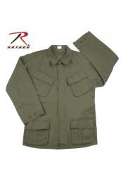 Винтажная рубашка VIETNAM оливковая 4687
