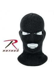 Черная акриловая маска с прорезями 5516