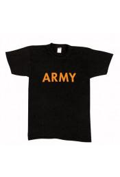 Черная футболка с надписью ARMY 60363