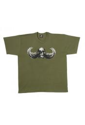 Оливковая футболка Skull-Wing 60503