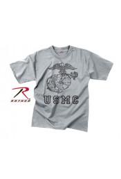 Винтажная серая футболка с изображением 61343