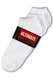 Белые короткие спортивные носки 6436