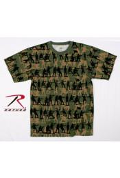 Оливковая футболка SOLDIER CAMO 66250