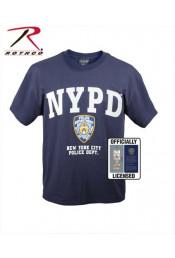 Синяя футболка с надписью NYPD 6638