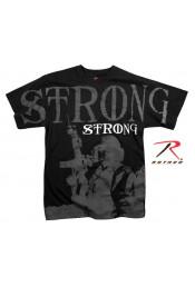 Черная винтажная футболка STRONG 66390