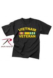 Черная футболка VIETNAM VETERAN 66540