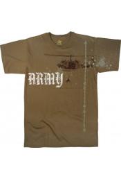 Винтажная коричневая футболка ARMY 66800