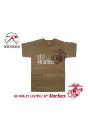 Коричневая винтажная футболка U.S. MARINES 66905