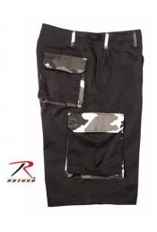 Удлиненные черные шорты ULTRA FORCE 7795