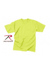 Однотонная ярко-зеленая футболка 7856