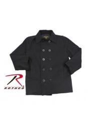 Винтажное короткое черное пальто 7877
