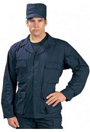 Рубашка B.D.U. синего цвета 8885