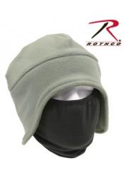 Зеленая флисовая шапка-маска 8944