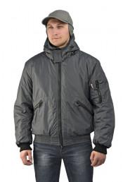 Куртка мужская Бомбер серая