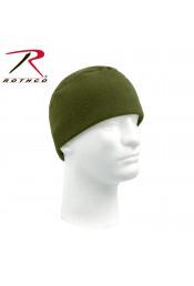 Легкая флисовая шапка оливковая 8460