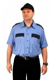Рубашка Охрана кор. рукав голубая