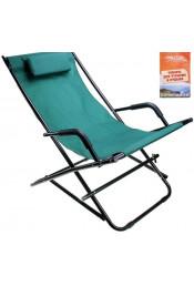 Зеленое кресло с подголовником