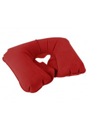 Надувная дорожная подушка бордовая