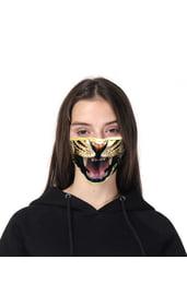 Маска защитная с принтом тигра